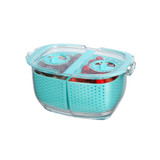 Felli Duo Fresh Keeper 480ml Fridge Storage Container - Blue