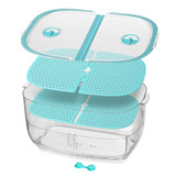 Felli Duo Fresh Keeper 4.4L Fridge Storage Container - Blue