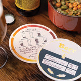 Luckies Beer Mat Tasting Notes Coasters