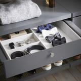 elfa Decor 4 Compartment Accessory Tray - Grey