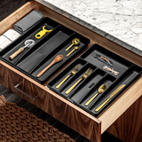madesmart 6 Compartment Cutlery Tray - Carbon