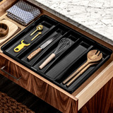 madesmart 5 Compartment Expandable Utensil Tray - Carbon