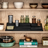 madesmart 3 Tier Expandable Shelf Organiser - Carbon