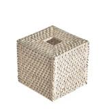 Rattan Square Tissue Box - White