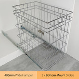 Tansel Pull Out Bottom Mount 72L Laundry Hamper for Internal Width Area +427mm