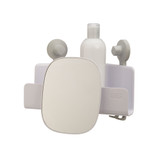 Joseph Joseph EasyStore Corner Shower Caddy with Mirror - White