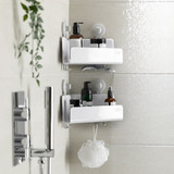 Joseph Joseph EasyStore Corner Shower Caddy 2 Pack - White