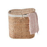 WATER HYACINTH DUAL COMPARTMENT HAMPER