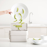 Joseph Joseph Compo 4 Easy-Fill Food Waste Caddy - Grey