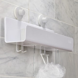 Joseph Joseph EasyStore Large Shower Caddy with Mirror - White