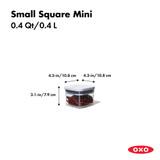 OXO POP 2.0 Container Small Square Mini 400ml