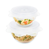Reusable Silicone Vented Microwave Food Covers - 2 Pack