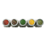 Appetito Magnetic Spice Cans - 5 Pack