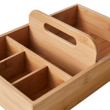 Howards Bamboo Divided Storage Caddy with Handle