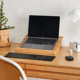 Howards Bamboo Angled Laptop Stand