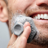 Tooletries Gentle Silicone Face Scrubber - Grey