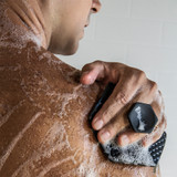 Tooletries Silicone Body Scrubber - Charcoal