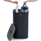 Joseph Joseph Tota 60L Separation Laundry Basket - Steel Blue