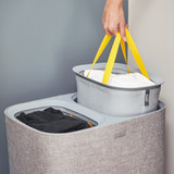 Joseph Joseph Tota 90L Separation Laundry Basket - Grey