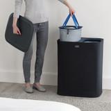 Joseph Joseph Tota 90L Separation Laundry Basket - Steel Blue
