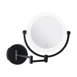Signature Collection Wall Mounted Magnifying LED Makeup Mirror - Black