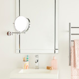 Howards Extendable Wall Mounted Magnifying Makeup Mirror