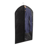 Howards Black Fabric & Clear Panel Suit Bag
