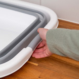 Collapse-A Square Tub with Plug 40L