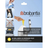 brabantia Smartfix Waste Bags 3 Litre Dispenser Pack  - 60 pack - Size A