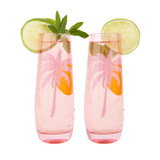 Sunnylife Cheers Desert Palms Stemless Glass Champagne Flutes 2 Pack