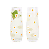 Sunnylife Cheers In Bloom Stemless Glass Champagne Flutes 2 Pack