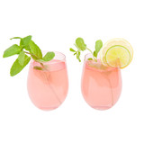 Sunnylife Cheers Powder Pink Stemless Glass Tumblers 2 Pack