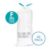 brabantia Smartfix Waste Bag 20L Slimline Dispenser Pack - 40 Pack - Size F