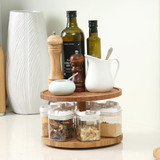 Bamboo 2 Tier Lazy Susan Turntable