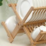 Bamboo Collapsible Dish Rack