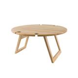 Peer Sorensen Round Large Folding Picnic Table - Rubberwood