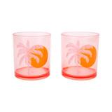 Sunnylife Poolside Tumblers Desert Palms 2 Pack