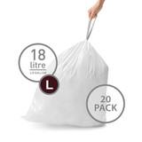 simplehuman Bin Liner 18L Code L - 20 Pack