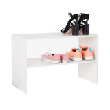 2 Shelf Storage Rack - White