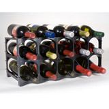 Cellarstak 12/15 Bottle Black Wine Rack