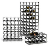 Cellarstak 12/15 Bottle Silver Wine Rack