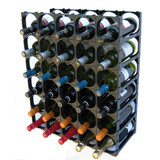Cellarstak 30 Bottle Black Wine Rack