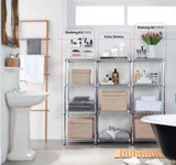 easy-build Custom Bathroom Shelving Unit