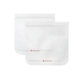 Full Circle Ziptuck Reusable Travel Bag Set of 2 830ml - Clear