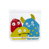 Full Circle Ziptuck Reusable Lunch & Snack Bag Set of 2 - Monsters