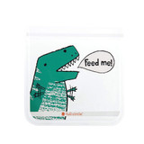 Full Circle Ziptuck Reusable Lunch & Snack Bag Set of 2 - Dinosaurs