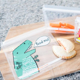 Full Circle Ziptuck Reusable Lunch & Snack Bag Set of 2 - Dinosaurs