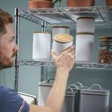 easy-build Custom 7 Shelf Pantry Unit with Wheels