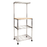 easy-build Kitchen or Laundry Rack Kit - Silver