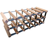 Wine Stash Timber Wine Rack 6x2 (18 Bottle) - Rustic